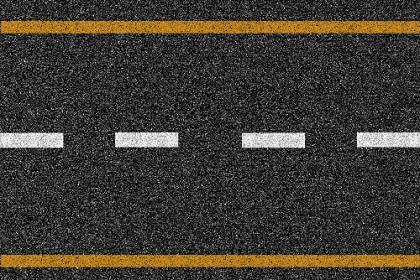 黄色実線で白色の破線を囲う